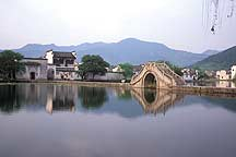 Hongcun - South Lake's Picture Bridege,Hongcun