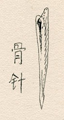 Early bone needle