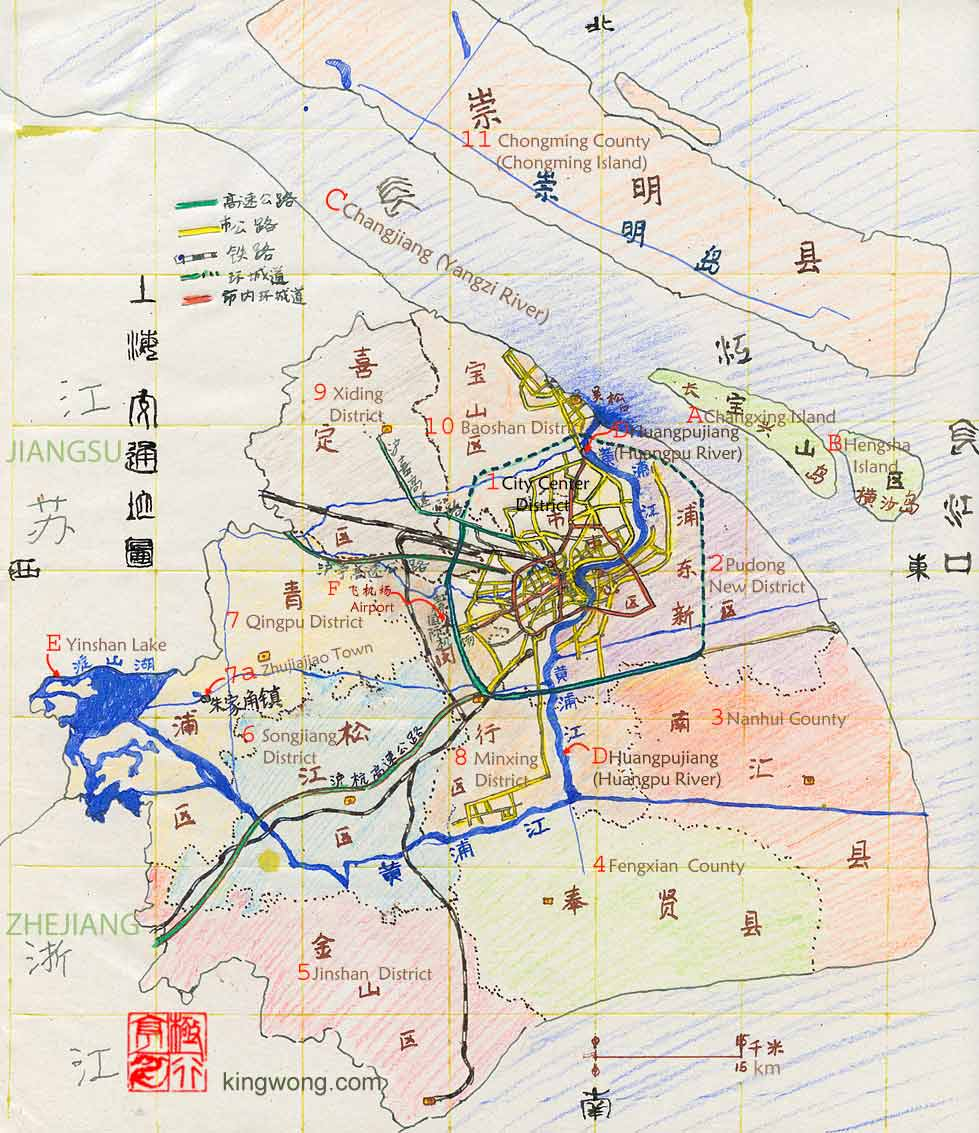 Map of China Map of Shanghai