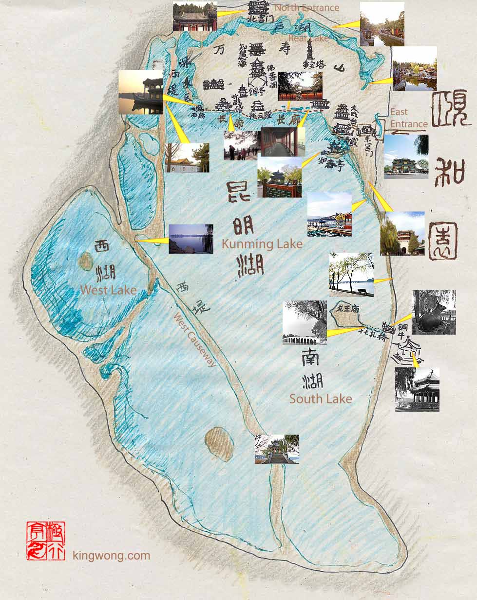 �ú�԰��ͼ ground plan of Summer Palace Garden