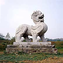 麒麟石刻 image of a stone chimera
